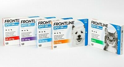 FRONTLINE Spot On Fleas Tick Lice Treatment All Sizes Cats & Dogs