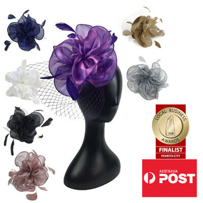 Women's Fashion Fascinators Spring Races Melbourne Cup Wedding Party Organza