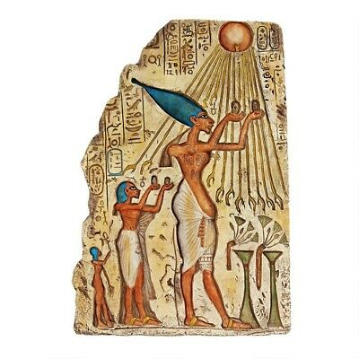 Egyptian Pharaoh Offering to Gods Egypt Museum Replica Wall Sculpture New