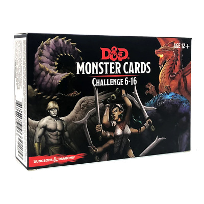 Dungeons & Dragons Spellbook Monster Challenge 6-16 Cards NEW