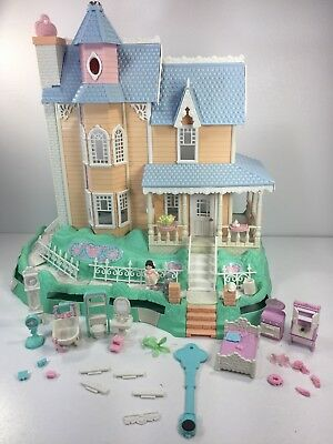 Vintage Fisher Price Precious Places Magic Key Mansion W/Key and Extra Rooms