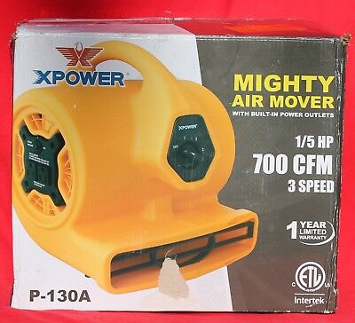 X Power Mighty Air Mover 1/5 HP   P-130A