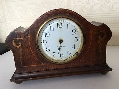 Vintage Wooden Clock with Key - Made in USA (spare/repair)