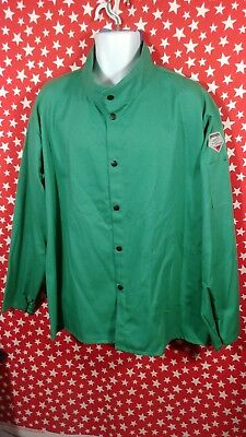 New Revco Black Stallion Welding Jacket Shirt FR Flame Resistant Green Cotton XL