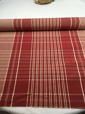 BRUNSCHWIG & FILS Vintage Toulouse Taffeta Plaid Poinsettia Red NEW 3 Yards
