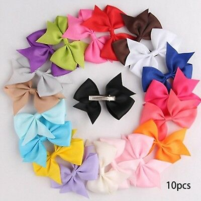 20Pcs Small Baby Hair Bows Ribbon Clips for Girls Toddlers Kids