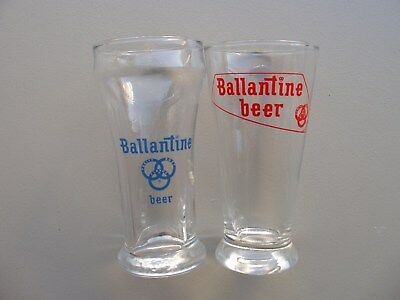 Two Ballantine Beer Glasses: Sham and Tapered.  Likely late '50s/'60s
