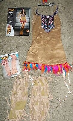"Spirit Brand ""tribal Vibe"" Indian Princess Halloween Costume Size Small(2-6)"