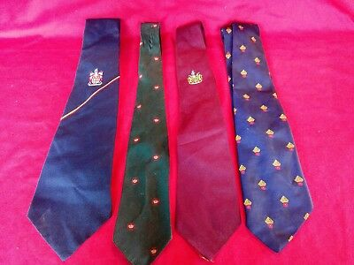 4 Vintage Club Association Ties Striped Old Boys School Retired Col Fetherstone