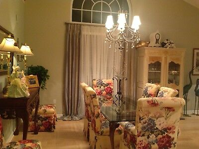 custom dining room set :table, china closet and 6 upholstered chairs