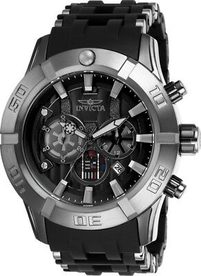 Invicta 26548 Star Wars Men's Chronograph 50mm Black-Tone Steel Black Dial Watch