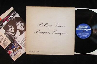 THE ROLLING STONES Beggars Banquet US ORIGINAL 1st PRESS LP/INSERT VG+