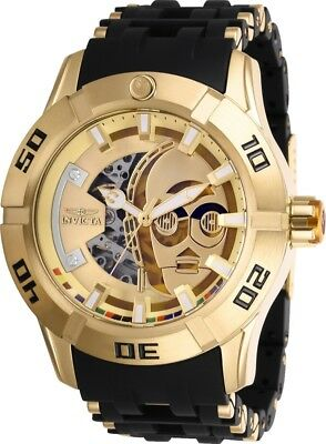 Invicta 26550 Star Wars Men's Automatic 50mm Gold-Tone Steel Gold Dial Watch
