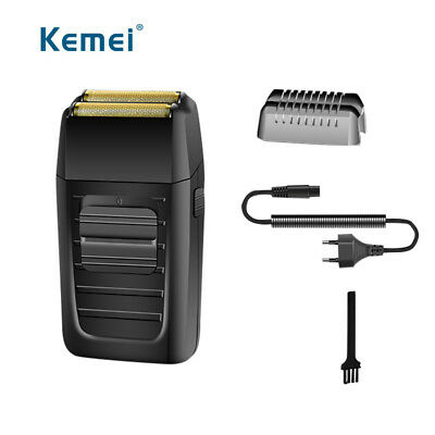 Kemei Electric reciprocating hair shaver double blade rechargeable hair trimmer