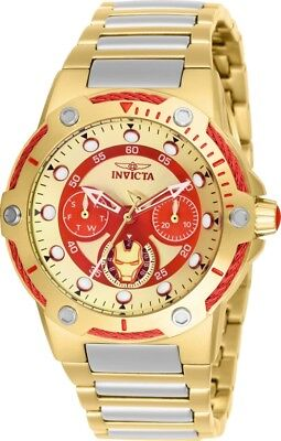 Invicta 26985 Marvel Women's Day-Date 24H 39mm Two-Tone Ironman Watch