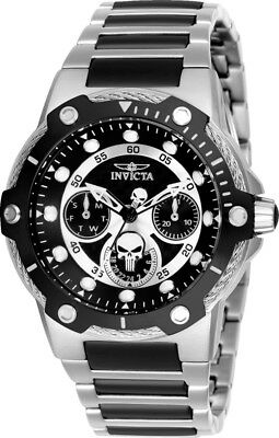 Invicta 26987 Marvel Women's Day-Date 24H 39mm Black Dial Punisher Watch