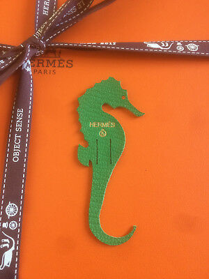 Hermès Petit h mini charm, leather piece -Hippocampe-