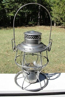 Adams & Westlake Reliable Railroad Lantern & Clear Extended Base Unmarked Globe!