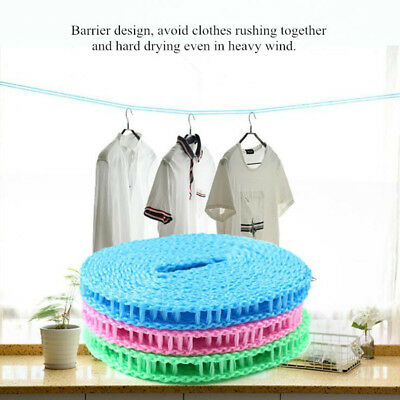 Nylon Hanging Rope Windproof Drying Rope Clothes Hangers Plastic 5M Non-slip Nyl