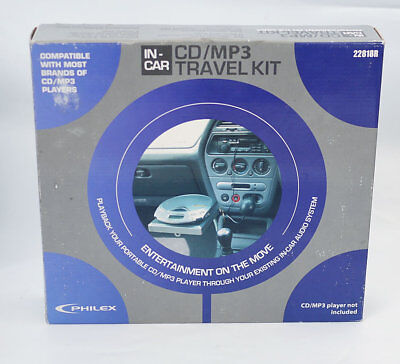 Philex MP3 Cassette Adapter Kit - In Car Power Supply and Mount Travel Kit