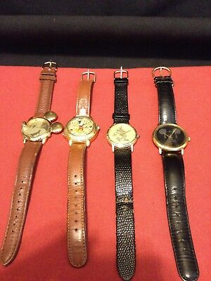 Lot o 4 Vintage 3-LORUS Disney Mickey Mouse Watches 1-Edition of 5000 1928-1993