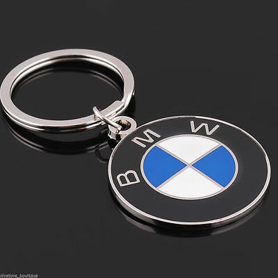 BMW 3D Chromed Car Logos Titanium Key Chain Keychain Ring Keyfob Metal