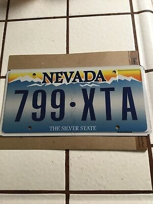 Man Cave DIY Nevada 2012 The Silver State License Plate 799 XTA No Stickers