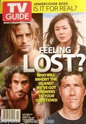 Tv Guide -Lost - Josh Holloway- Evangeline Lilly - Elizabeth Mitchell - 6 Covers