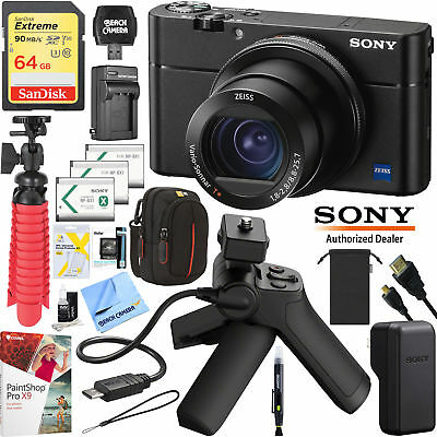 Sony Cyber-shot RX100 VA DSC-RX100M5A 4K Zeiss Digital Camera Grip Tripod Kit