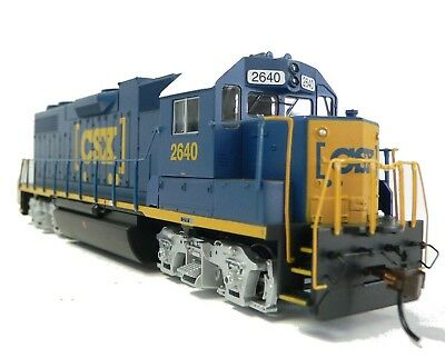HO Scale Model Railroad Trains Layout Engine CSX GP-38-2 DCC & Sound Equipped