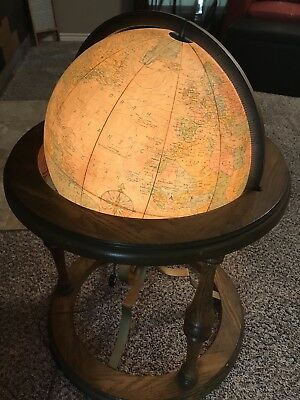 "Replogle 16"" Heirloom Globe. ""Antique ocean"" 1978"