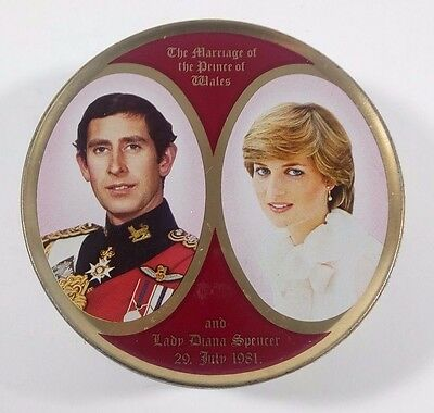 Royal Wedding Prince Charles Lady Diana SK Travel Sweets Tin New Sealed
