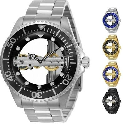 Invicta Men's Pro Diver Bridge Mechanical Skeleton 47mm Watch - Choice of Color