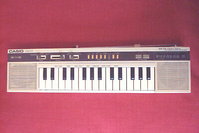 CASIO CK-10 Synthesiser Keyboard Instrumen with built-in FM-AM Stereo Radio,RARE