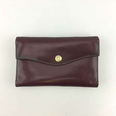 by BOSCA Wallet Trifold Vintage OxBlood Red Napa Leather Made in USA