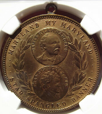 1915 Panama Pacific Expo Maryland Medal HK407, Detail NGC, PPIE Token World Fair