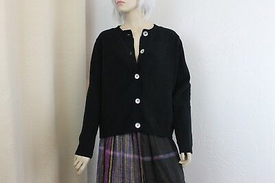 Wild Palms Women's Black Cardigan Sweater Size Med/Large Cozy!