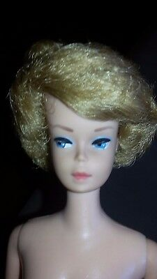 Vintage Original 1962 Midge Barbie Doll 1958 Mattel Patented Bubblecut Blond