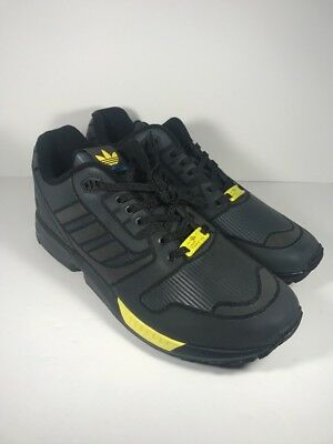 the latest 0a9f5 aba54 NEW ADIDAS ORIGINALS ZX Flux Xeno Reflective Runner Black Grey B54176 Size  10.5