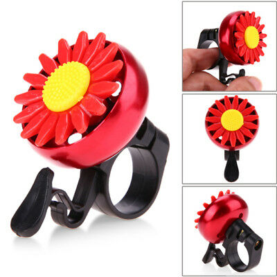 Flower Bicycle Bike Cycling Handlebar Bell Ring Horn Sound Alarm Loud Safety S
