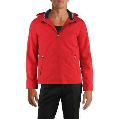 Tommy Hilfiger Mens Fall Wind Resistant Basic Jacket Outerwear BHFO 0126