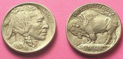 First Year Sharp 1913 D Buffalo Nickel T-1 Au/unc With Eye Appeal! No Reserve!