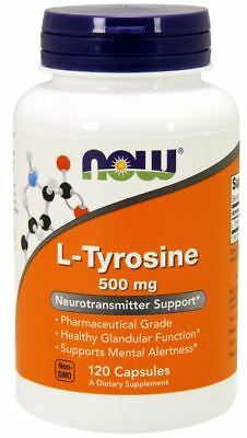 L-Tyrosine 500 mg 120 Capsules by NOW Foods **Free Shipping**