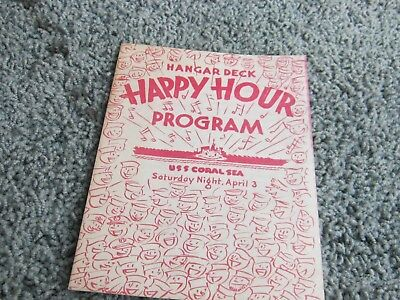 1948-49 USS CORAL SEA items: Welcome to Istanbul, Happy Hour, Daily briefings