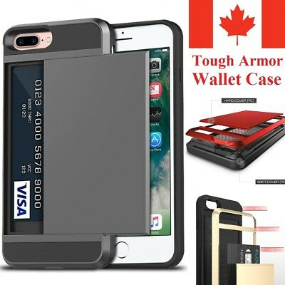 For iPhone 8 | iPhone 7 Case - Hard Shockproof Tough Armor Wallet Cover