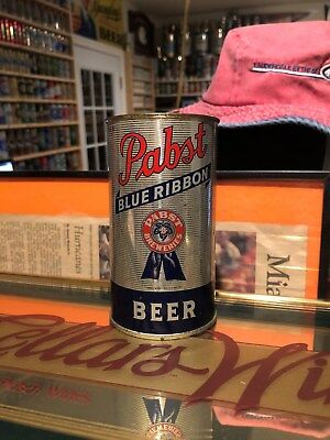 Pabst Blue Ribbon Beer 33 Fine Brews ~ Flat Top Beer Can ~ Milwaukee, Wisconsin.