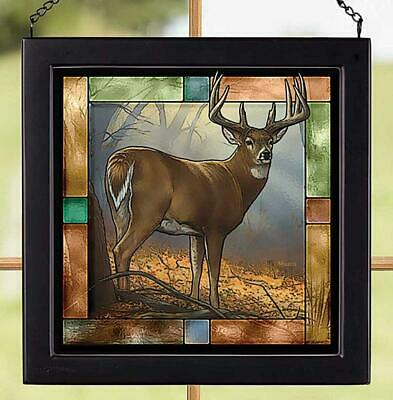 In Prime - Whitetail Deer Stained Glass Art by Rosemary Millette