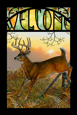 Sunrise Retreat - Whitetail Deer Stained Glass Art by Persis Clayton Weirs