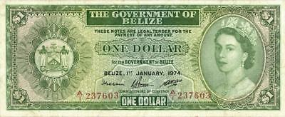 Belize $1 Dollar Currency Banknote 1973