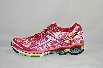 MIZUNO WAVE CREATION 15 womens running shoes Size 6 NEW MAROON GREEN PINK